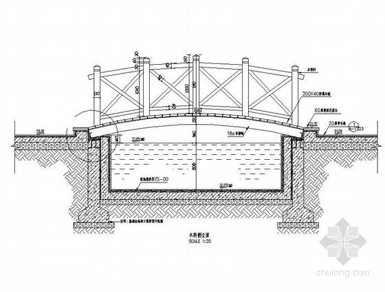 木拱桥施工大样图