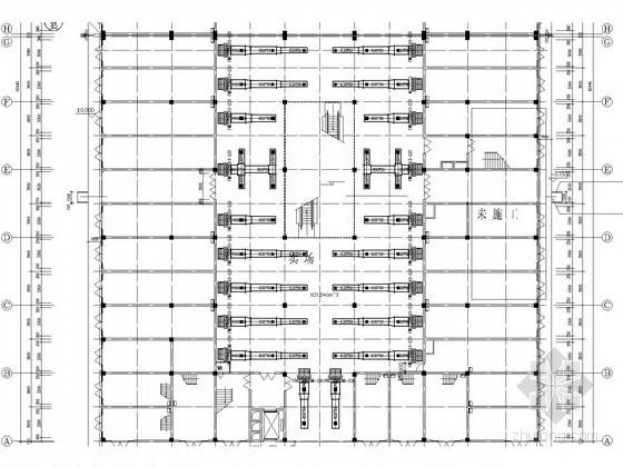 [湖北]多层商场建筑空调通风系统设计施工图(风冷模块机组)