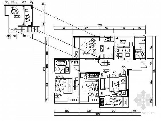 [重庆]泰国风情精装修四居室内施工图