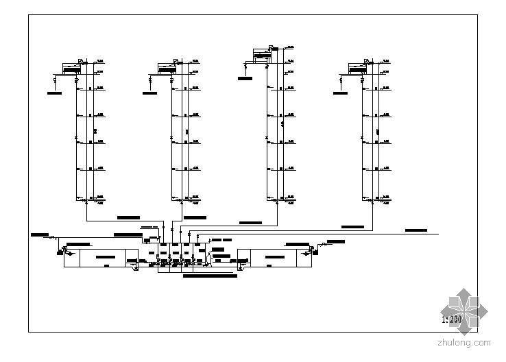 工业厂房供水标准系统图