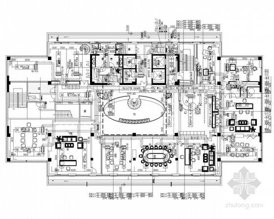 [上海]高層辦公建筑群及地下建筑通風空調及防排煙系統設計施工圖(產業基地 平面圖詳細)