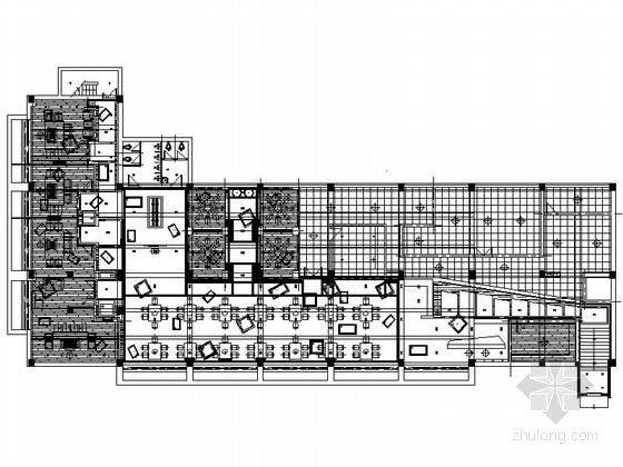 日式铁板烧餐厅室内设计施工图(含实景)