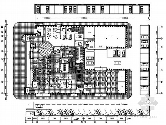 [深圳]地方性金融服务机构支行现代办公大楼设计方案图