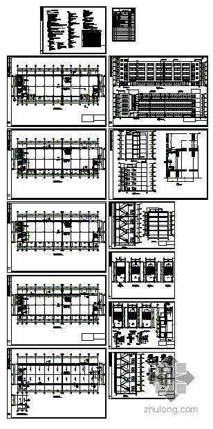 宁波某光学公司厂房建筑结构图