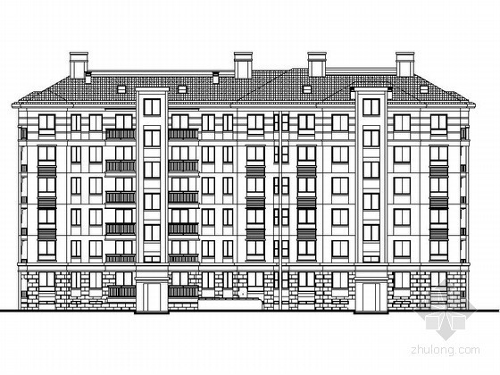 [安徽巢湖]某六层住宅楼建筑施工套图(9号)