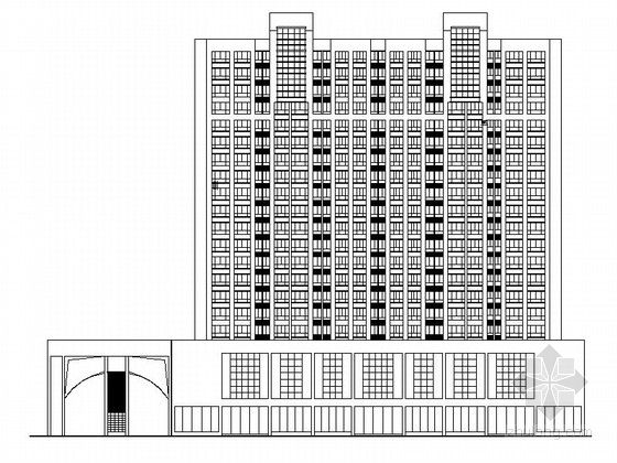 [湖南]高层框架剪力墙结构商住楼建筑施工图