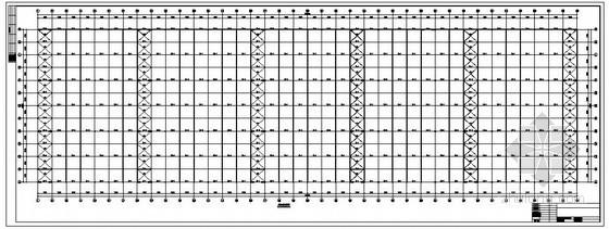 某三联跨带吊车厂房结构设计图