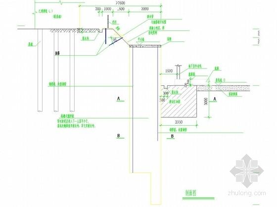 [广州]鱼塘地区深基坑搅拌桩重力挡墙支护施工图