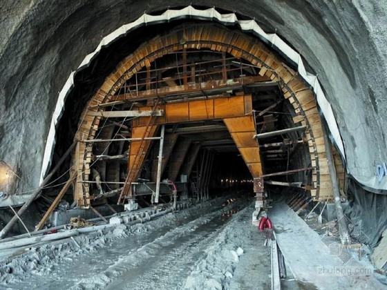 隧道复合式衬砌设计图28张CAD