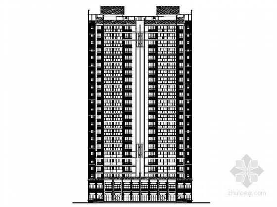 某市23层现代风格独栋住宅建筑施工图