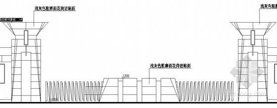 水泥厂大门结构大样图