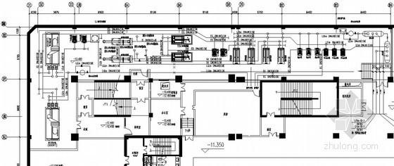 制冷机房空调设计施工图(冰蓄冷系统、冷却塔系统)