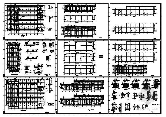 某两层钢框架厂房结构设计图