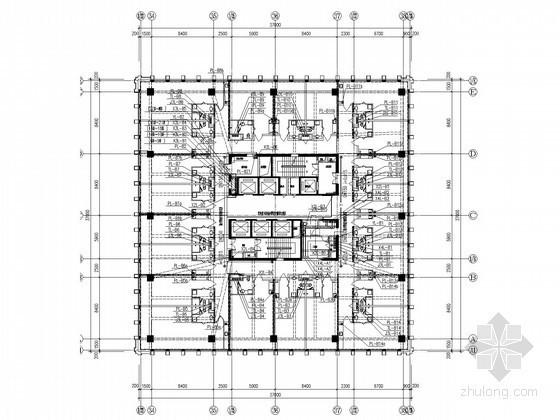 [黑龙江]57万平地标性综合体建筑给排水消防施工图(虹吸雨水 气体灭火系统)