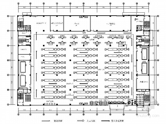 [深圳]现代智能高新技术企业工业园设计装修图(含方案)