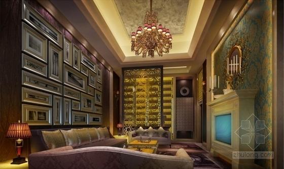 [甘肃]园林式星级宾馆KTV室内装修设计节点效果图