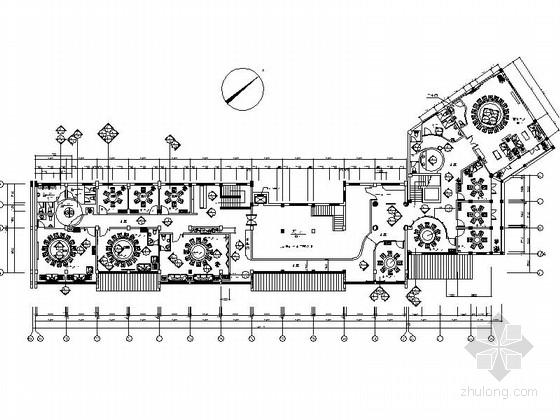 [合肥]知名商场经典中式餐厅室内设计CAD施工图