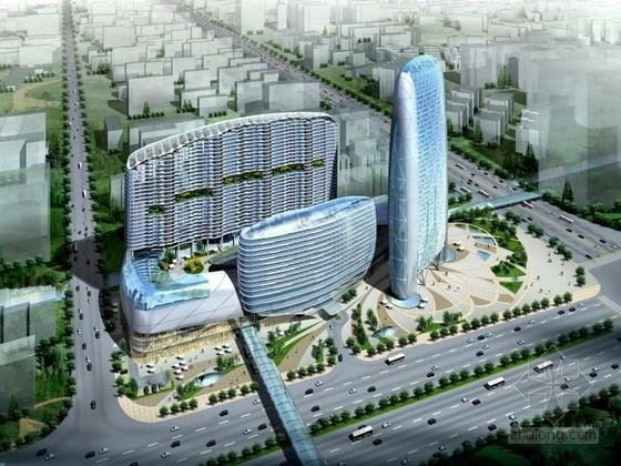 [广州]商业区规划及单体设计方案文本(国外知名设计)
