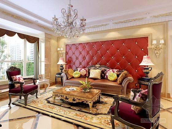豪华欧式风格客厅3d模型下载