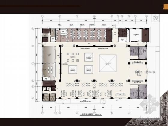 [芜湖]精品简欧风格售楼处室内设计方案图