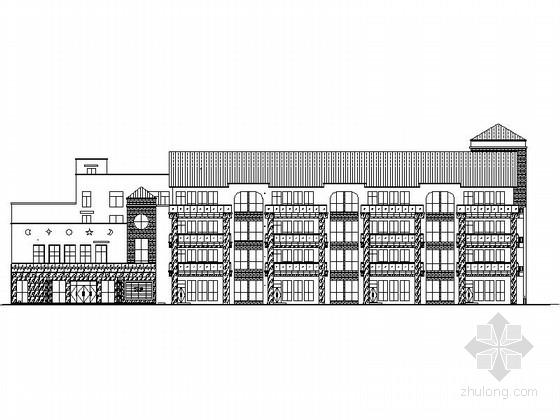 3层坡屋面机关幼儿园施工图(含效果图)