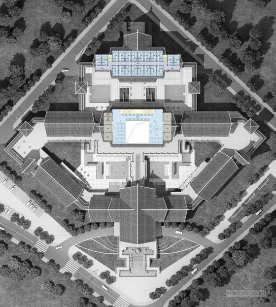 [武汉]两层世界中式传统高档接待场所休闲中心风格有名的建筑设计图片