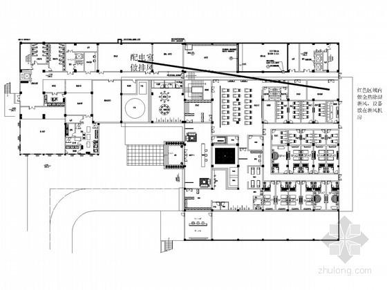 温泉酒店空调采暖系统设计施工图(风冷热泵 全热新风)