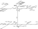 商务会所暖通施工图(管路、新风、排风、冷却水,安装剖面)