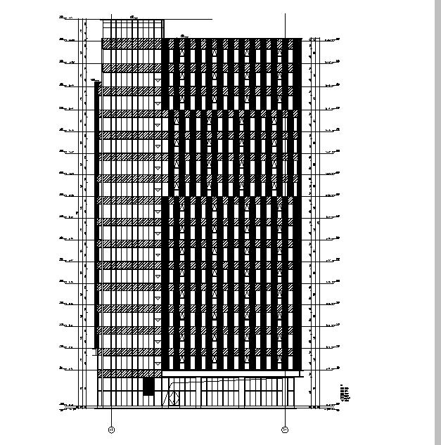 [上海]13栋住宅框剪高层符号建筑全图纸施工图专业机械加工结构的图片