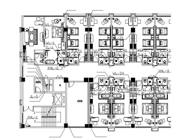 德胜科技孵化中心给排水及消防工程施工设计图(CAD,27张)