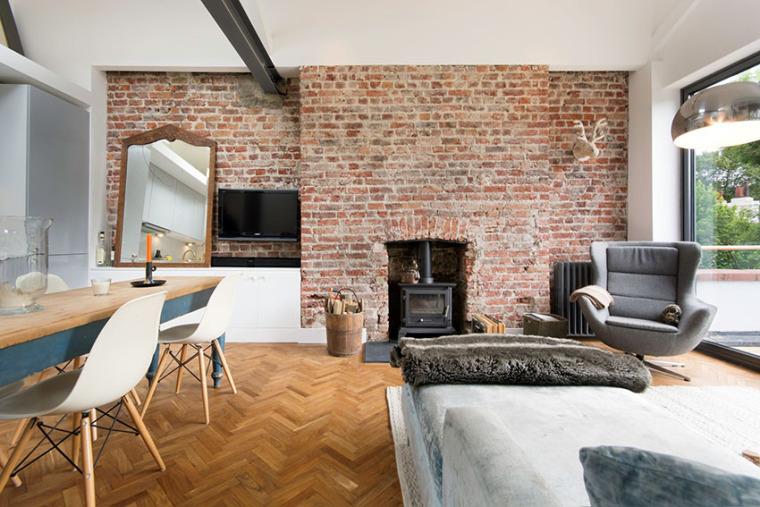 伦敦阁楼公寓:既复古又清新_3