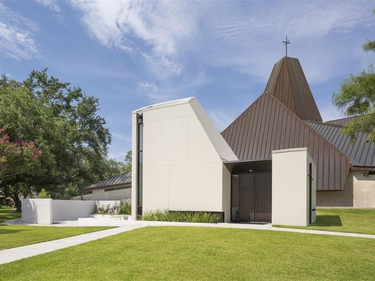 美国StPius礼拜堂和祷告花园