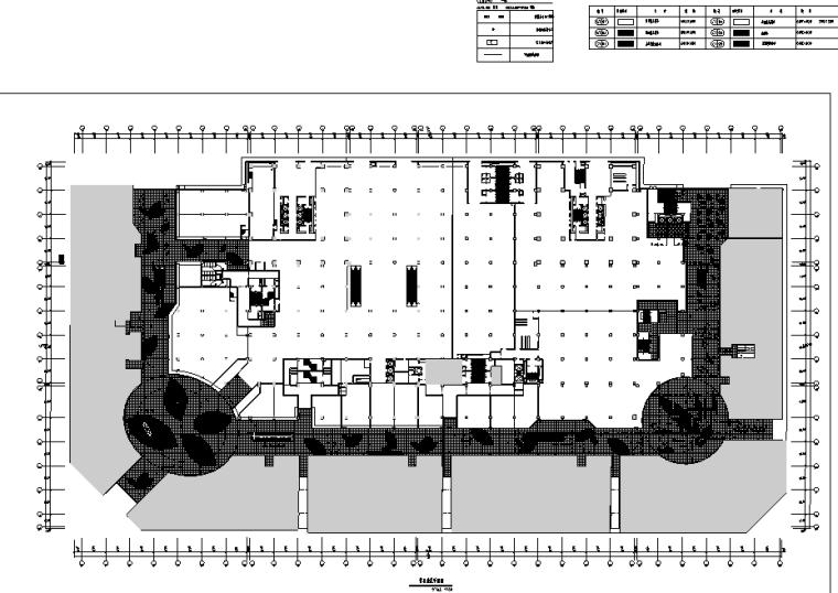 万达广场购物中心室内设计施工图(附效果图)-地花平面图