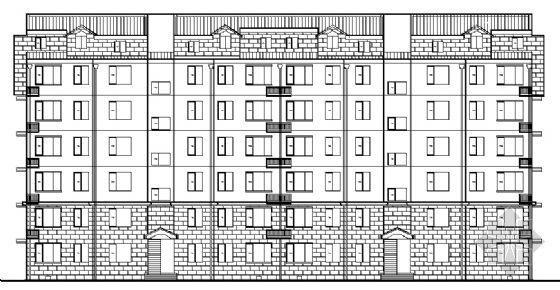 南京某六层住宅楼建筑方案图
