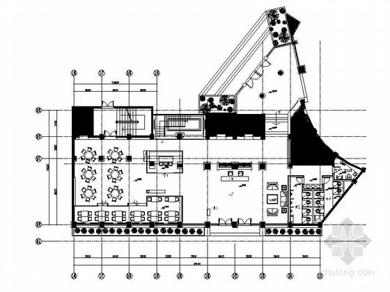 [武汉]某现代假日酒店餐厅及卫生间装修施工图(含效果)