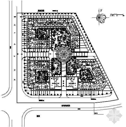 广西住宅小区环境景观施工图