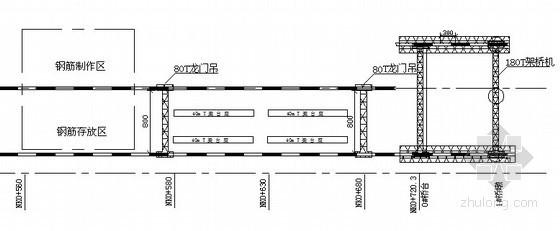 [湖南]高速公路大桥预制梁场建设施工方案(含CAD图)