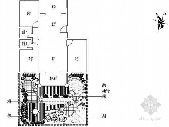 资中某小区私家庭院绿化设计施工图