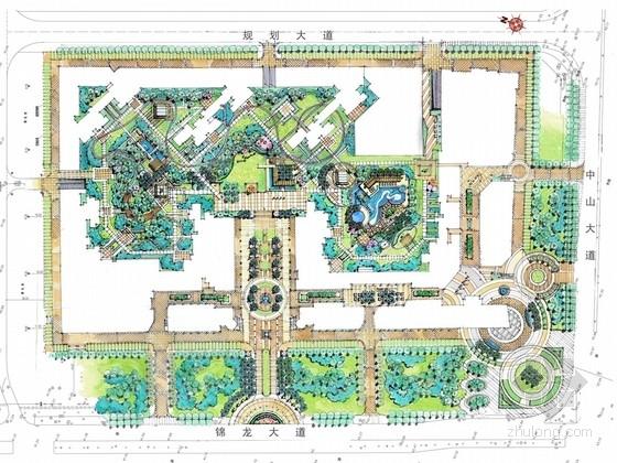 [广东]现代风格高层住宅小区景观设计方案(国际知名设计机构作品)