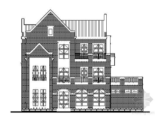 某三层英式小别墅建筑扩初图