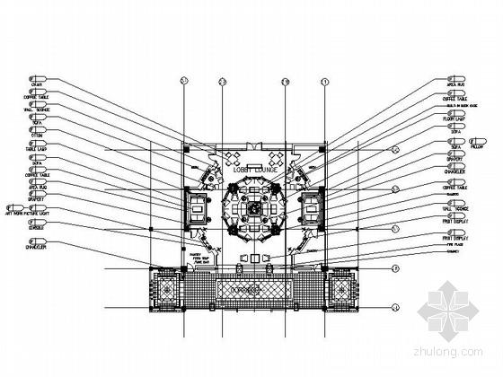 [惠州]知名地产集团温泉度假酒店大堂装修施工图