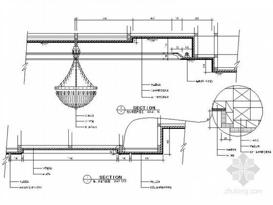 免费下载!!成套吊顶节点详图CAD图块