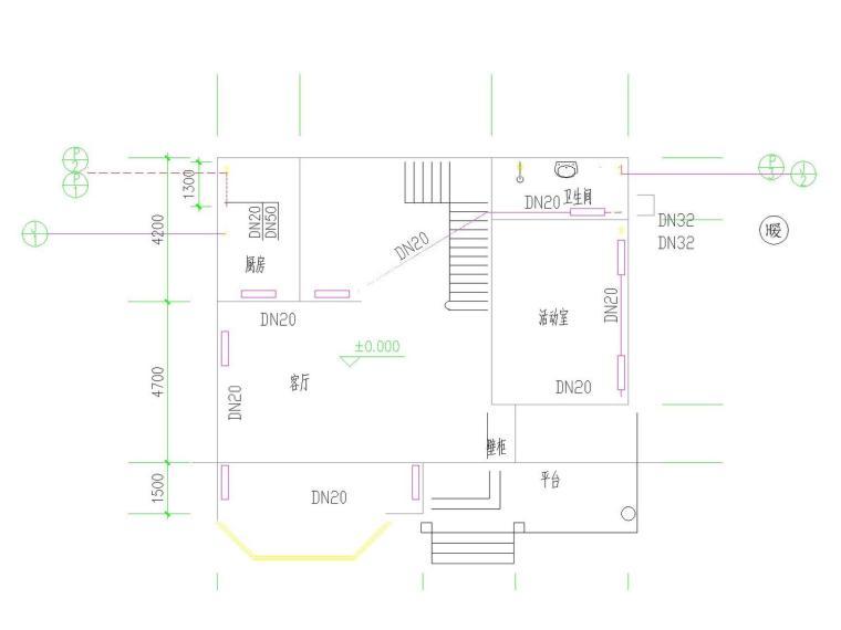 多层小别墅散热器采暖系统设计施工图