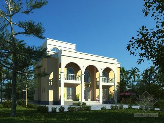 现代风格别墅3D模型下载