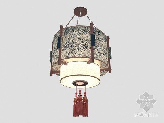时尚中式吊灯3D模型下载