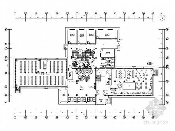 [浙江]江南园林特色仿古图书馆装修CAD设计图(含实景)