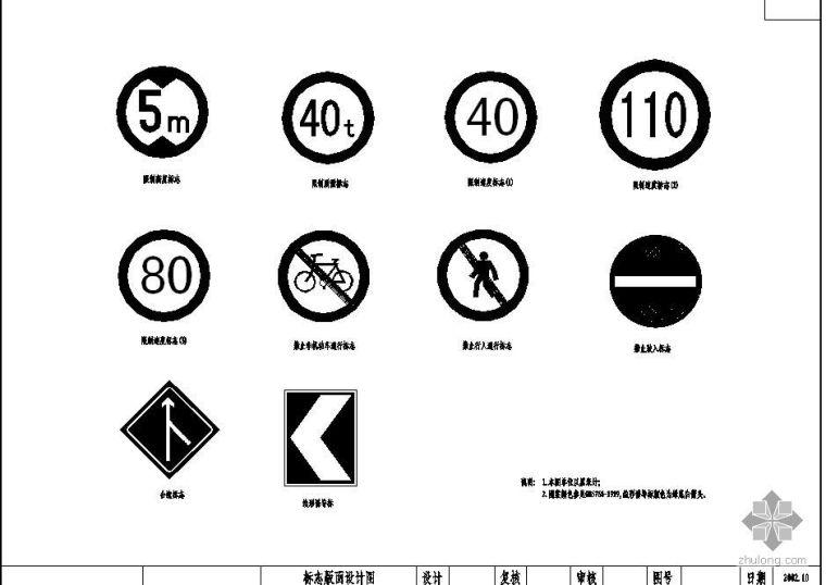 高速公路标志版面设计图