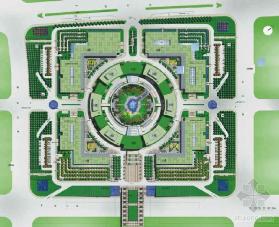 浙江杭州城市中心知名地产景观概念设计方案