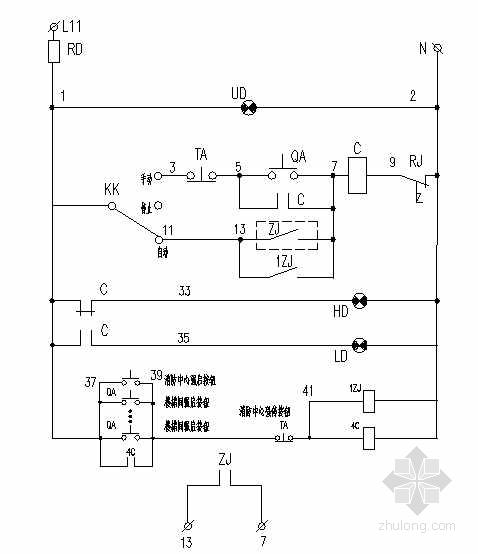 高层建筑电梯电气自动控制图