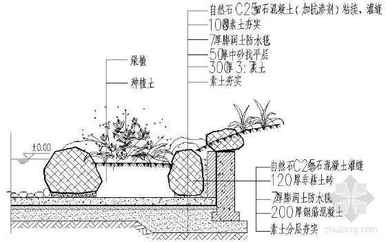 水生植物驳岸详图